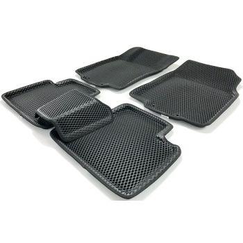 Коврики в салон 3d EVA для Nissan Rogue '14-, черные (Seintex)