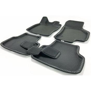 Коврики в салон 3d EVA для Skoda Octavia A7 '13-, черные (Seintex)