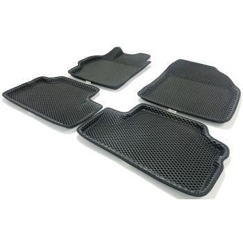 Коврики в салон 3d EVA для Toyota Corolla 2007-2012, черные (Seintex)