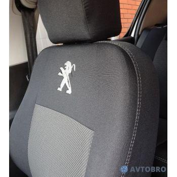 Авточехлы для салона Peugeot 107, хетчбек '05-09 (Элегант)
