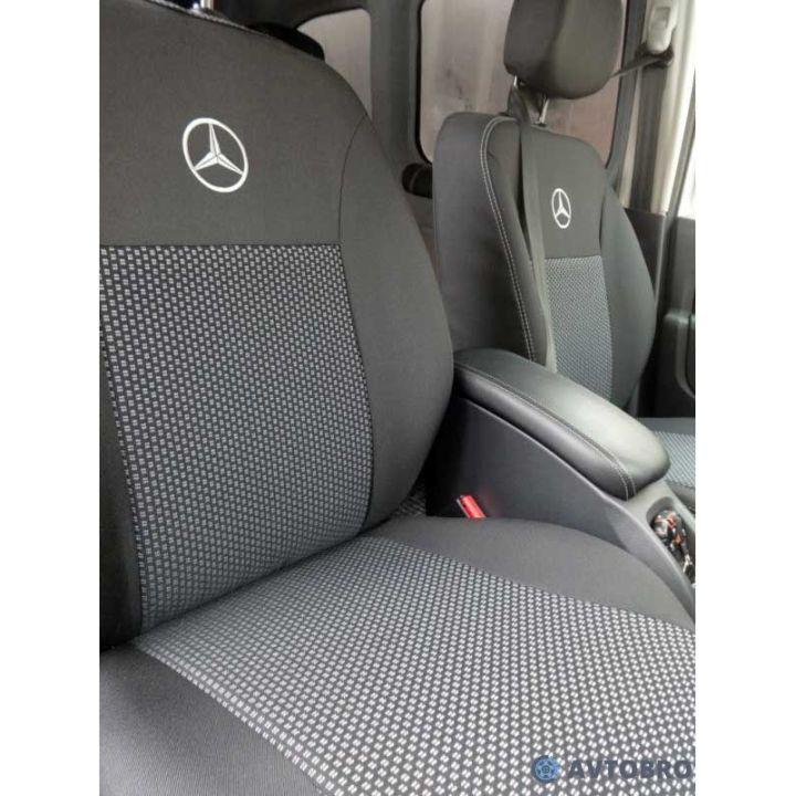 Авточехлы для салона Mercedes E-Class W212 '09-15, с деленой спинкой (Элегант)