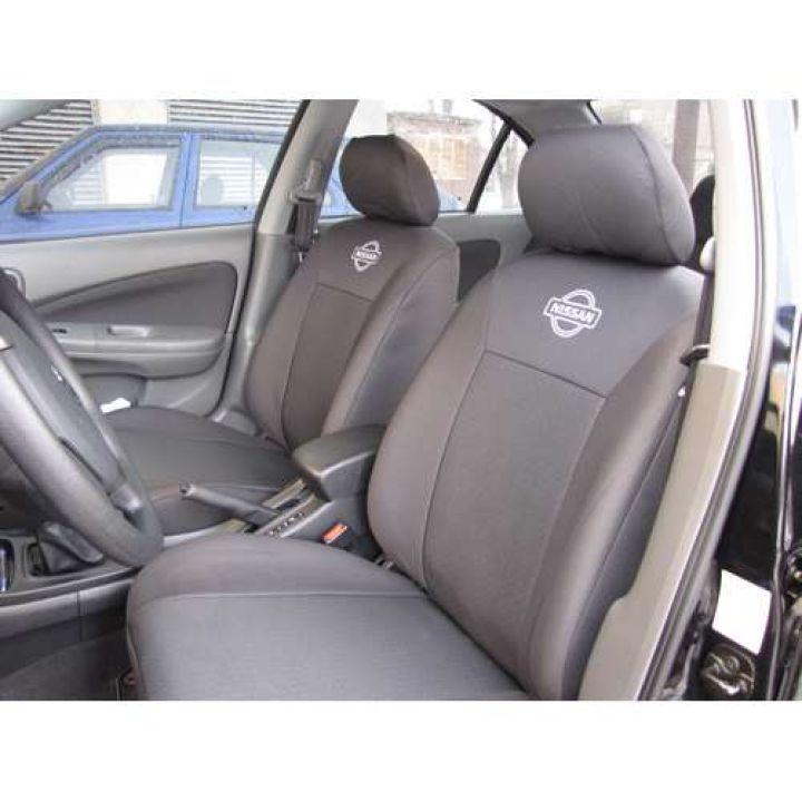 Авточехлы для салона Nissan Tiida '04-08, седан Эконом (Элегант)