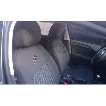 Авточехлы для салона Citroen Berlingo '02-, пластиковый airbag (Элегант)