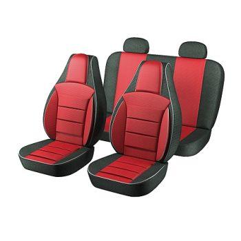 Авточехлы для салона Daewoo Lanos / Sens '98-, красный (Пилот)
