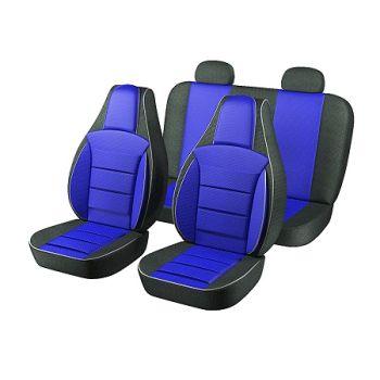 Авточехлы для салона Daewoo Lanos / Sens '98-, синий (Пилот)