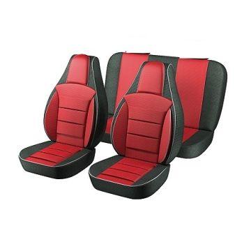 Авточехлы для салона Lada (Ваз) 2108-2109 '86-12, красный (Пилот)