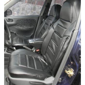 Авточехлы из экокожи для салона Lada (Ваз) 2110-12 '95-14, черный (Пилот)