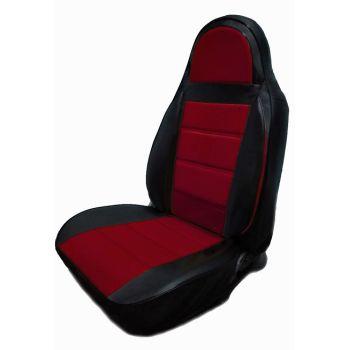 Авточехлы из экокожи для салона Lada (Ваз) 2113-15 '97-12, красный (Пилот)