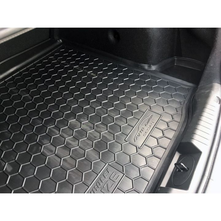 Коврик в багажник для Chevrolet Cruze '09-16 седан, полиуретановый (AVTO-Gumm)