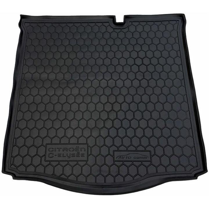 Коврик в багажник для Citroen C-Elysee '13-, полиуретановый (AVTO-Gumm)