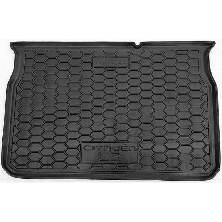 Коврик в багажник для Citroen C-3 2017-, полиуретановый (AVTO-Gumm)