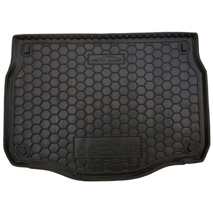 Коврик в багажник для Citroen C-4 Cactus 2015-, полиуретановый (AVTO-Gumm)