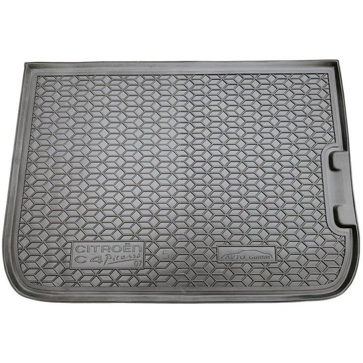 Коврик в багажник для Citroen C-4 Picasso 2007- (5мест), полиуретановый (AVTO-Gumm)