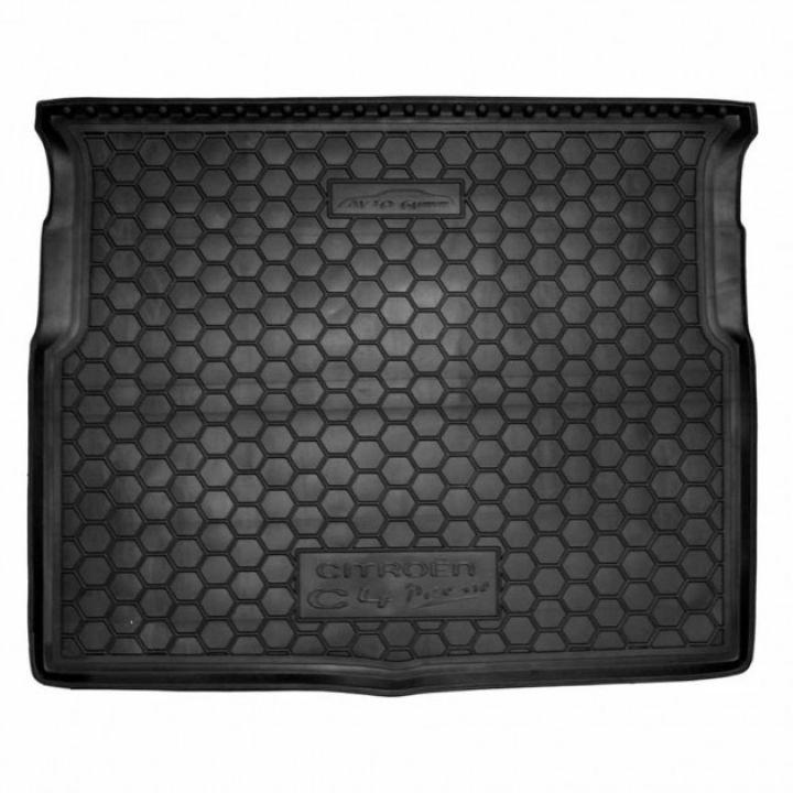 Коврик в багажник для Citroen C-4 Picasso 2014-, полиуретановый (AVTO-Gumm)