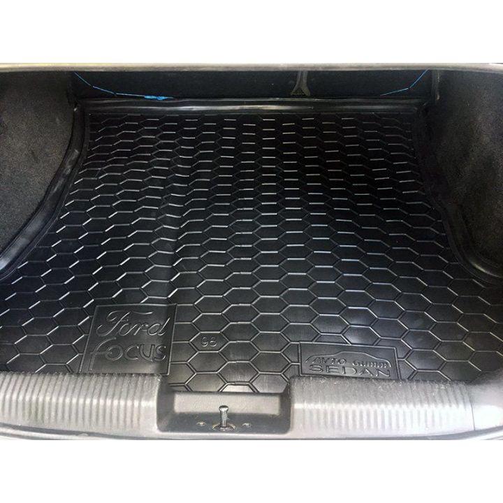 Коврик в багажник для Ford Focus 1998-, седан, полиуретановый (AVTO-Gumm)