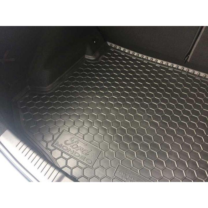 Коврик в багажник для Ford Mondeo lV '07- лифтбэк с докаткой, полиуретановый (AVTO-Gumm)