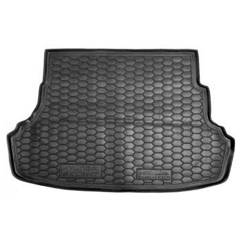 Коврик в багажник для Hyundai Accent 2011- цельная задняя спинка, полиуретановый (AVTO-Gumm)