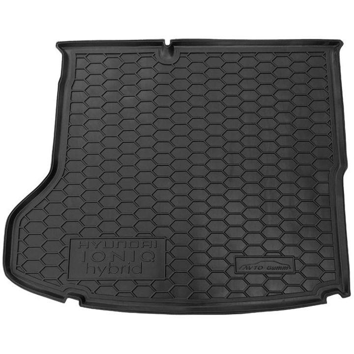 Коврик в багажник для Hyundai Ioniq '16-, MID, полиуретановый (AVTO-Gumm)