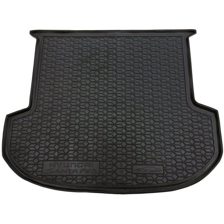 Коврик в багажник для Hyundai Santa Fe '18-, 5 мест, полиуретановый (AVTO-Gumm)