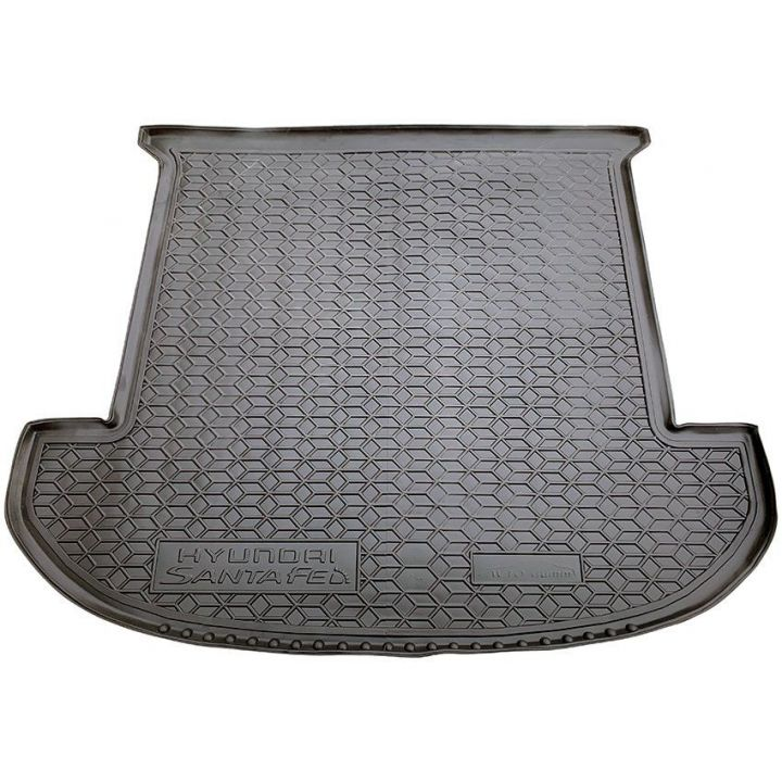 Коврик в багажник для Hyundai Santa Fe '18-, 7 мест, полиуретановый (AVTO-Gumm)