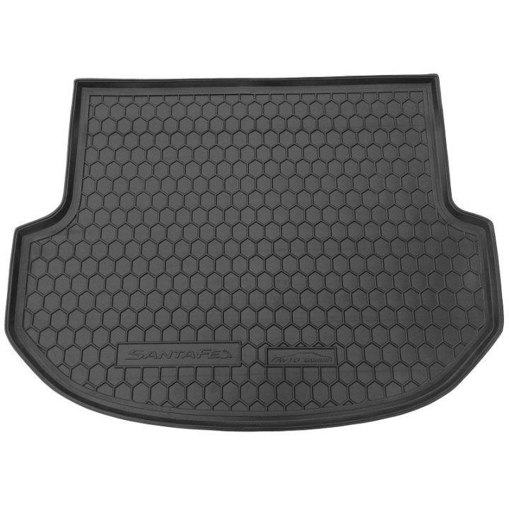 Коврик в багажник для Hyundai Santa Fe '13-17 DM (5 мест), полиуретановый (AVTO-Gumm)