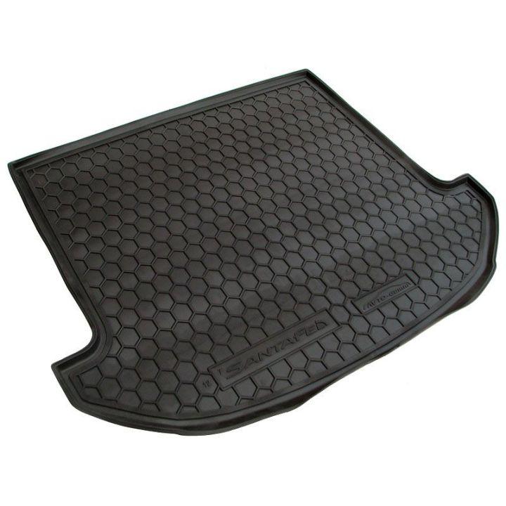 Коврик в багажник для Hyundai Santa Fe '13-17 DM (7 мест), полиуретановый (AVTO-Gumm)
