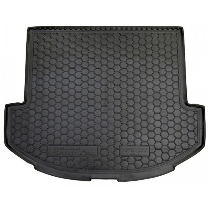 Коврик в багажник для Hyundai Santa Fe '13-17 DM (7 мест, Base), полиуретановый (AVTO-Gumm)