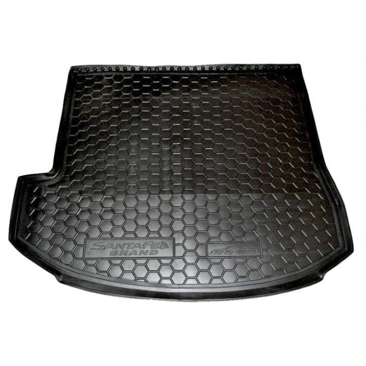 Коврик в багажник для Hyundai Santa Fe '13-17 DM (7 мест, Top), полиуретановый (AVTO-Gumm)