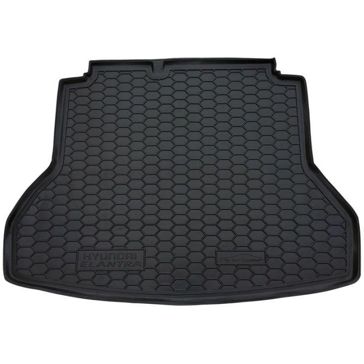 Коврик в багажник для Hyundai Elantra 2016-, полиуретановый (AVTO-Gumm)