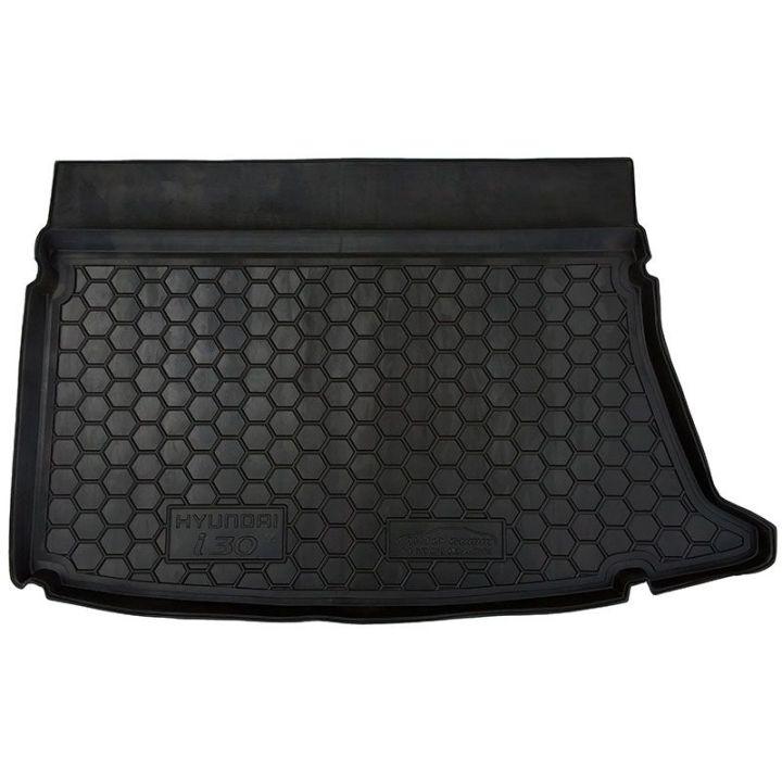 Коврик в багажник для Hyundai i-30 2006- хетчбэк, полиуретановый (AVTO-Gumm)