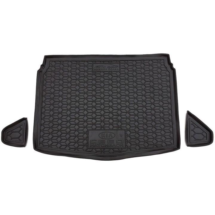 Коврик в багажник для Kia Ceed '19-, хетчбэк, нижняя полка, полиуретановый (AVTO-Gumm)