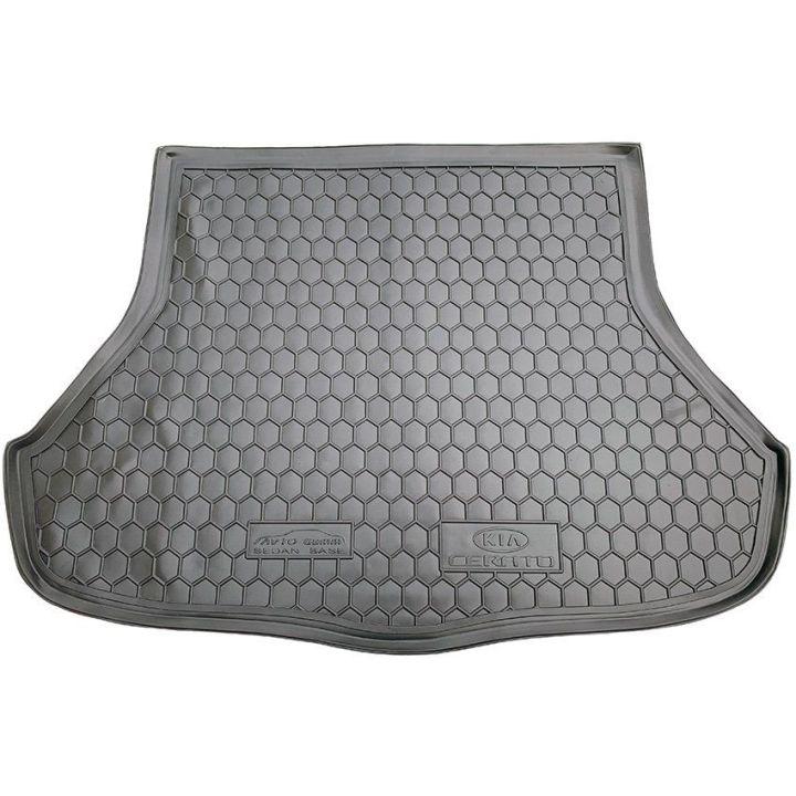 Коврик в багажник для Kia Cerato lll 2013- седан (BASE), полиуретановый (AVTO-Gumm)