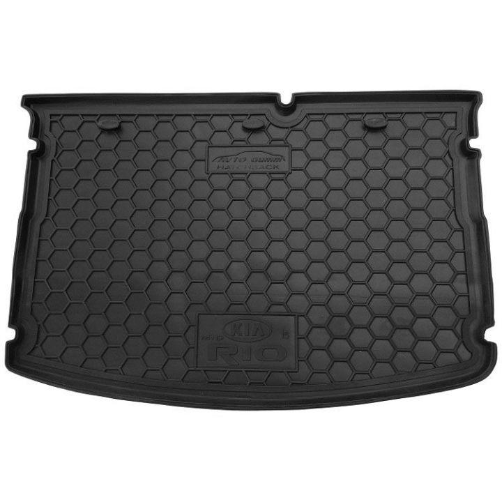 Коврик в багажник для Kia Rio '15-17 хетчбек, без органайзера, полиуретановый (AVTO-Gumm)