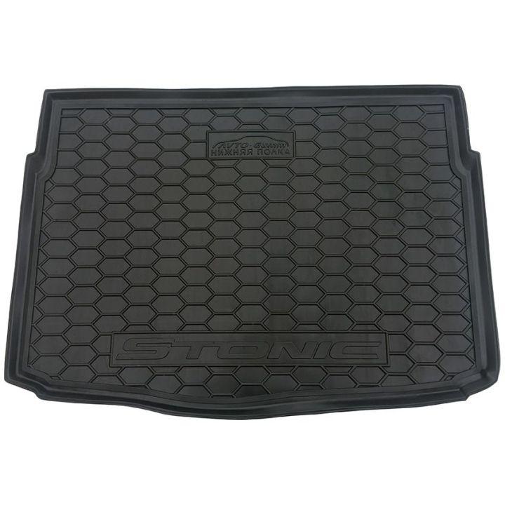 Коврик в багажник для Kia Stonic '18-, нижняя полка, полиуретановый (AVTO-Gumm)