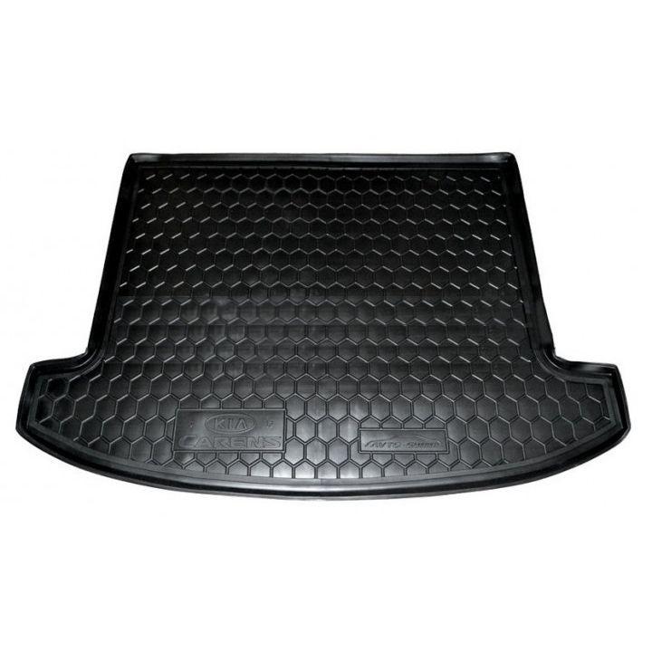 Коврик в багажник для Kia Carens 2013- 5 мест, полиуретановый (AVTO-Gumm)