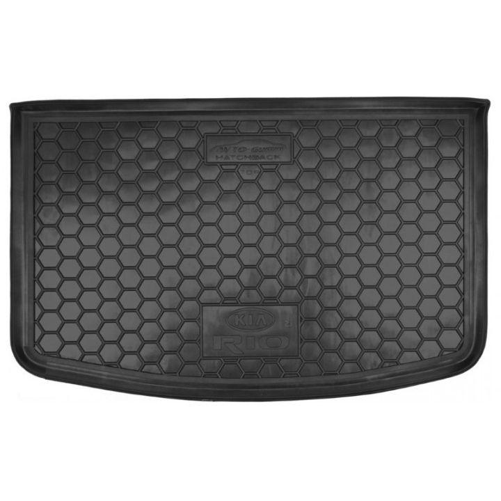 Коврик в багажник для Kia Rio '15-17 хетчбек, с органайзером, полиуретановый (AVTO-Gumm)