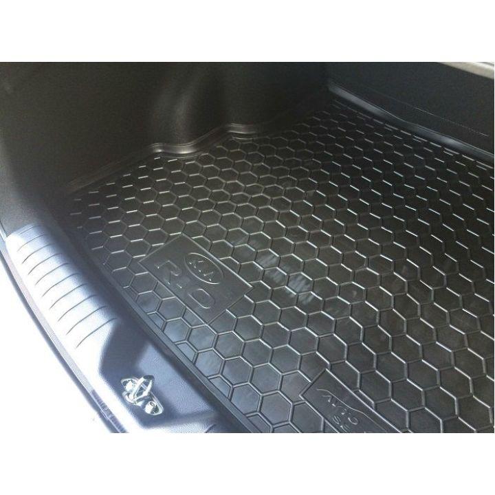 Коврик в багажник для Kia Rio 2015- седан, полиуретановый (AVTO-Gumm)