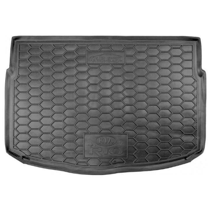 Коврик в багажник для Kia Rio '17- хетчбэк, нижняя полка, полиуретановый (AVTO-Gumm)