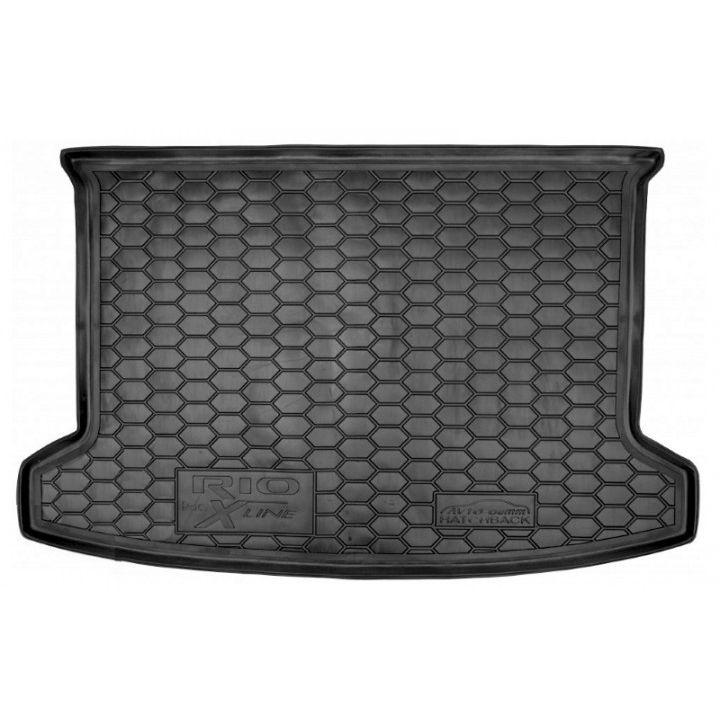 Коврик в багажник для Kia Rio '18- (росс. сборка) хетчбэк, полиуретановый (AVTO-Gumm)