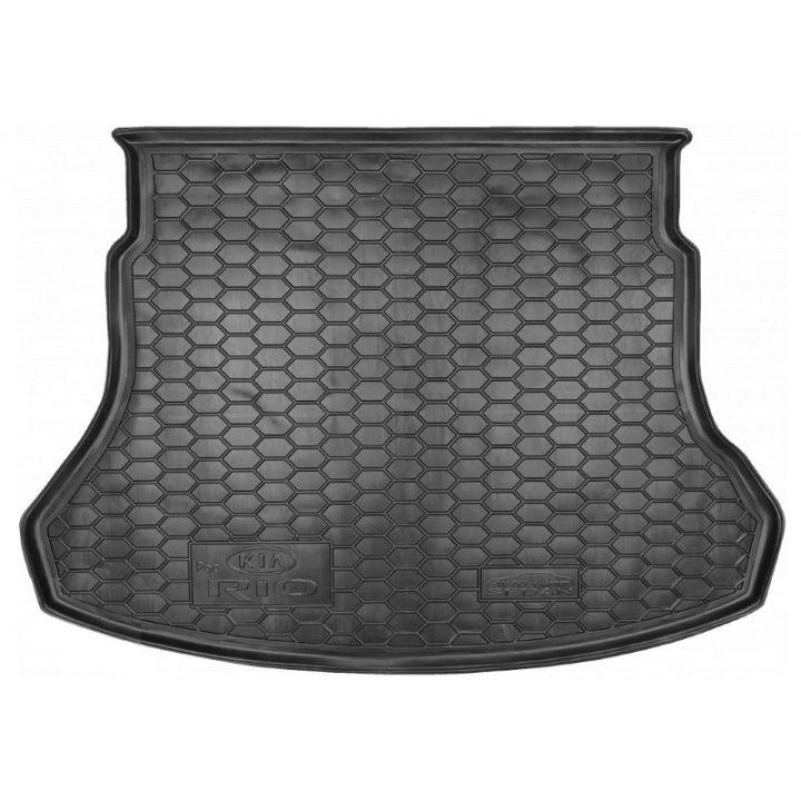 Коврик в багажник для Kia Rio '17- (росс. сборка) седан, полиуретановый (AVTO-Gumm)