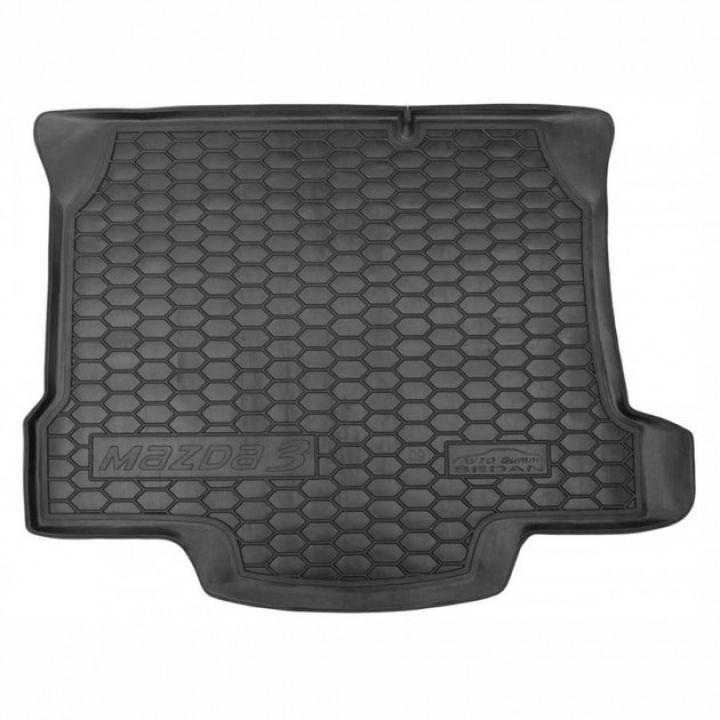 Коврик в багажник для Mazda M3 2009- седан, полиуретановый (AVTO-Gumm)