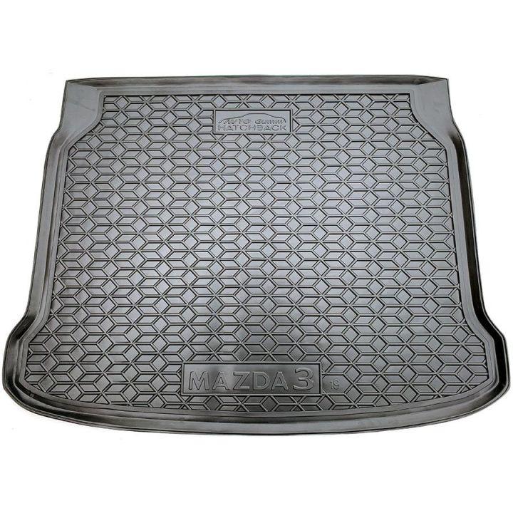Коврик в багажник для Mazda M3 2019- хетчбэк, полиуретановый (AVTO-Gumm)