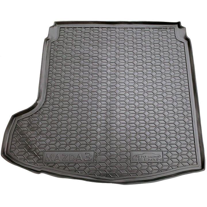 Коврик в багажник для Mazda M3 2019- седан, полиуретановый (AVTO-Gumm)