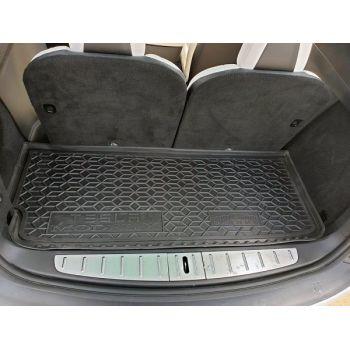 Коврик в багажник для Tesla Model X '15-, 6/7 мест малый, полиуретановый (AVTO-Gumm)