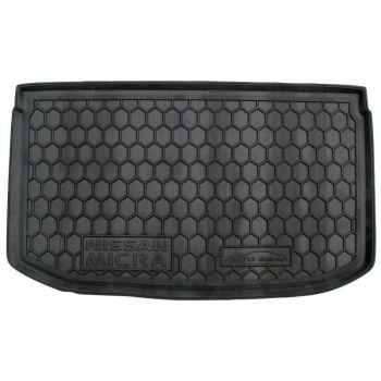 Коврик в багажник для Nissan Micra 2013-, полиуретановый (AVTO-Gumm)