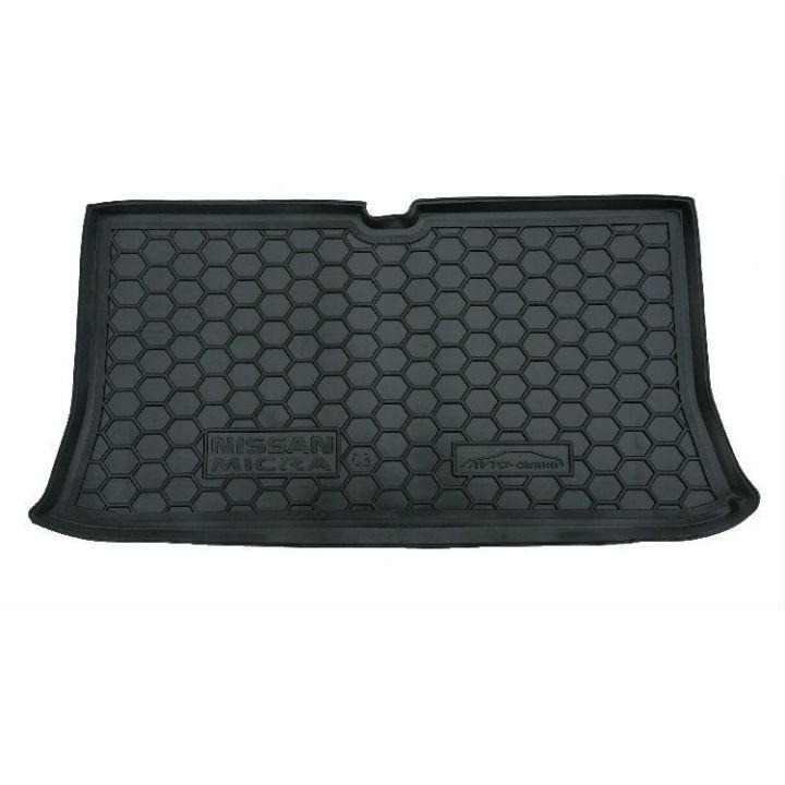 Коврик в багажник для Nissan Micra 2003-, полиуретановый (AVTO-Gumm)