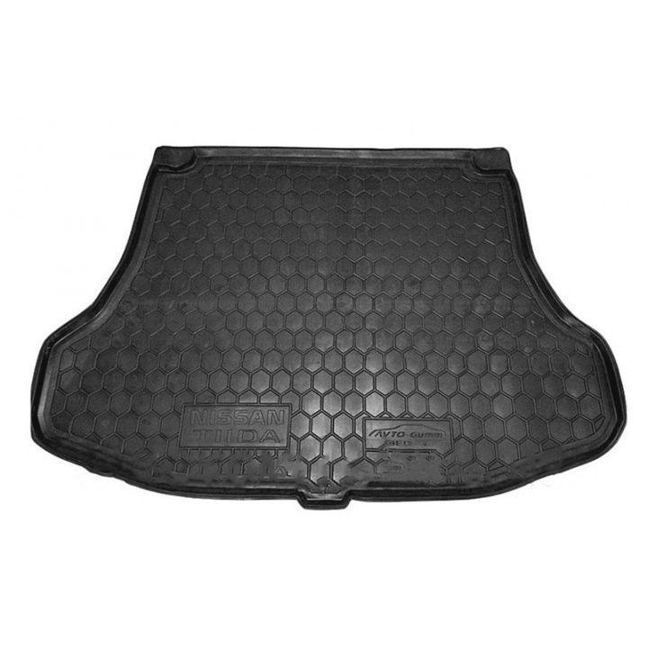 Коврик в багажник для Nissan Tiida '05-14 седан, полиуретановый (AVTO-Gumm)