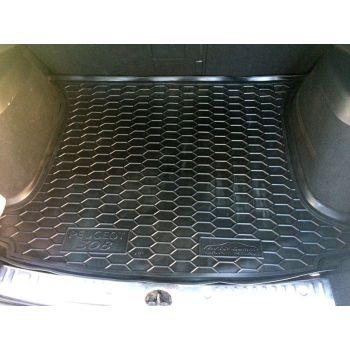 Коврик в багажник для Peugeot 308 '08-13 универсал, 5 мест, полиуретановый (AVTO-Gumm)