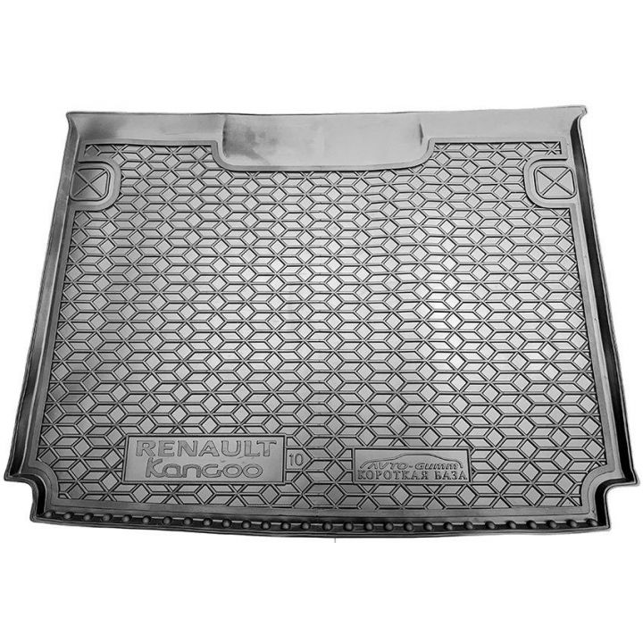 """Коврик в багажник для Renault Kangoo '09- (пасс.) без """"ушей"""", полиуретановый (AVTO-Gumm)"""