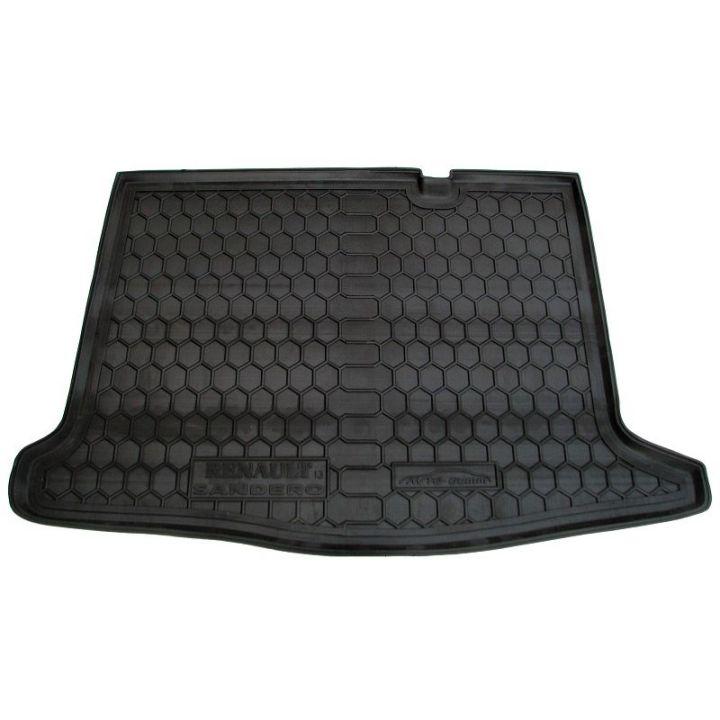 Коврик в багажник для Renault Sandero 2013-, полиуретановый (AVTO-Gumm)